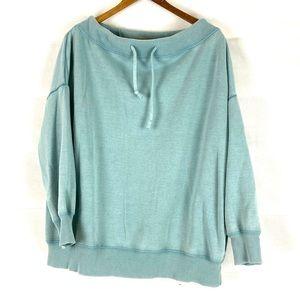 Aerie wide neck adjustable slouchy sweatshirt